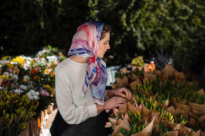 silk scarf Twelve month