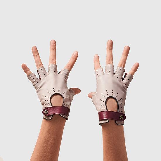SG rukavičky bezprsté č.03 - taupe / bordó