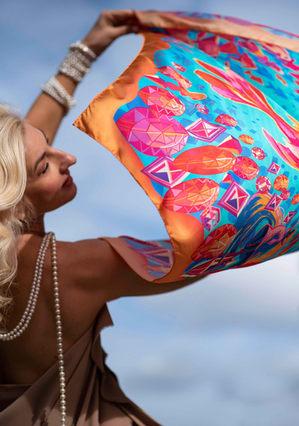 flying scarf golden fish