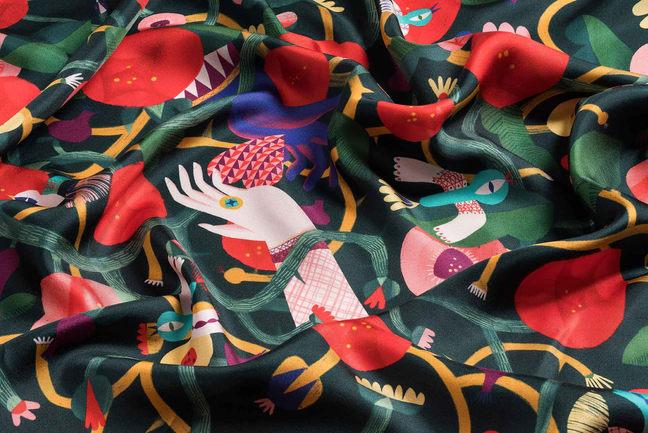 hedvábný šátek Šípková Růženka