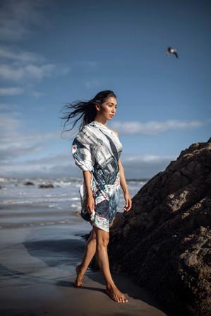 SG scarf California beach