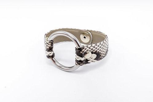 Genuine Python Skin Leather O-Ring Bracelet
