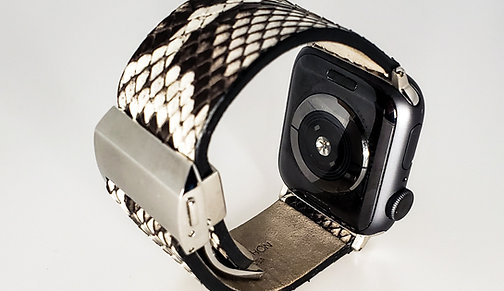 Genuine Python Skin Apple Watch Band - Bold Pattern