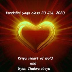 Kundalini yoga class 20 JUL 2020 - Kriya Heart of Gold and Gyan Chakra Kriya