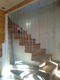 neue Treppe im Erdgeschoss