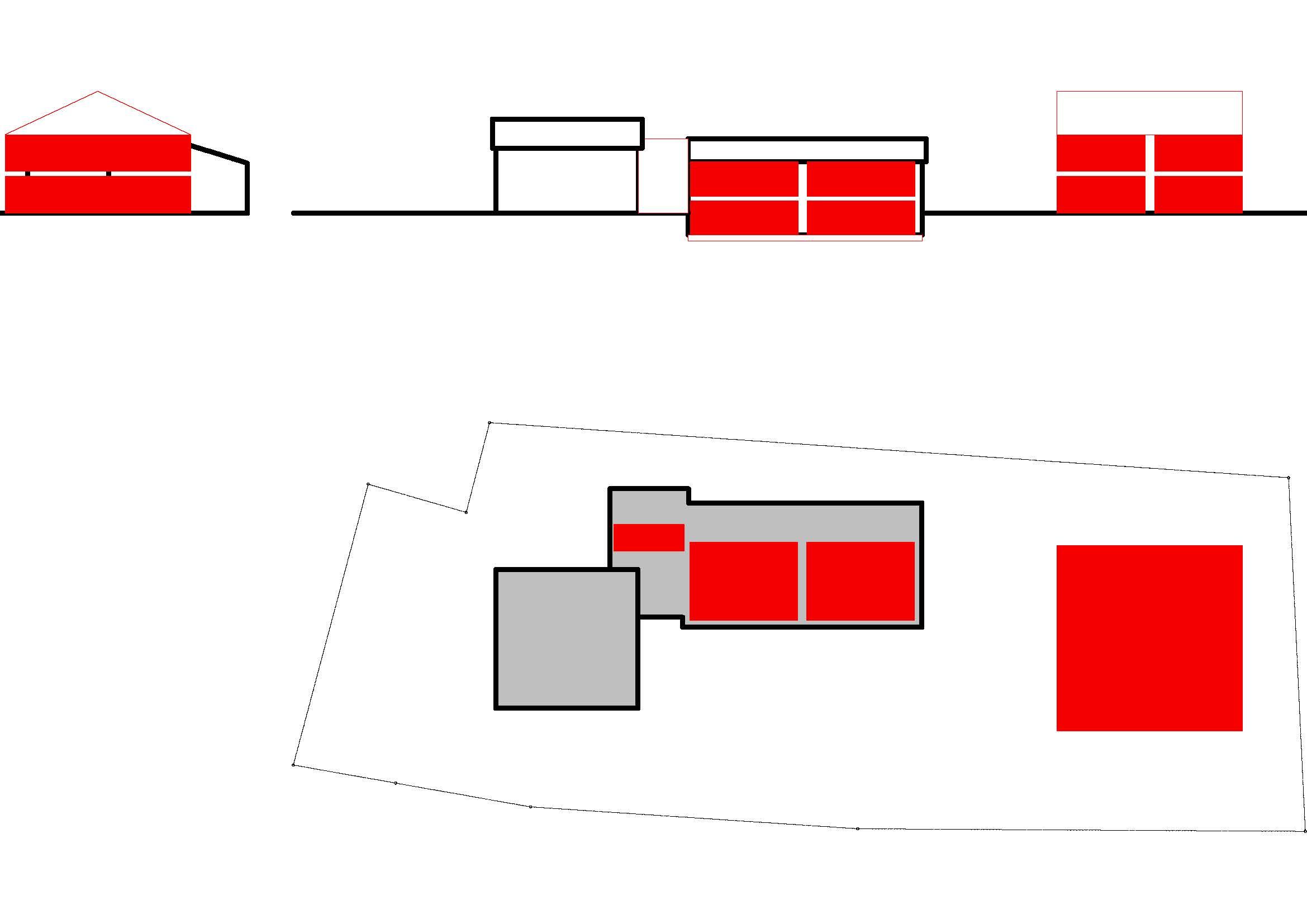 Variante Umbau und Neubau