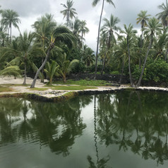 A lagoon at the Place of Refuge