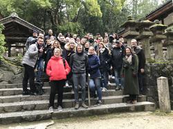 Groupe guidé à Nara