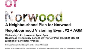 NPA Vision Event #2 + AGM 14th November 7-9pm