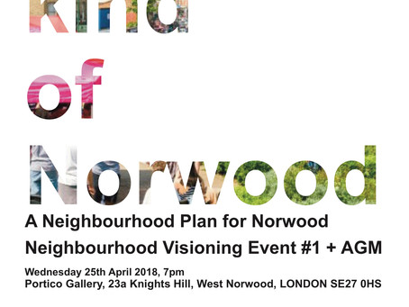 Neighbourhood Visioning Event 25th April 7pm