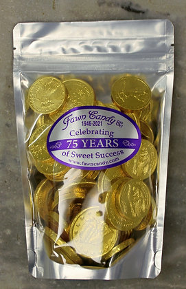 Gold Foil Coins Milk Chocolate