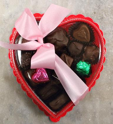 1/2# Clear Heart Box