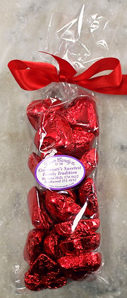 Red Foil Hearts Milk Chocolate