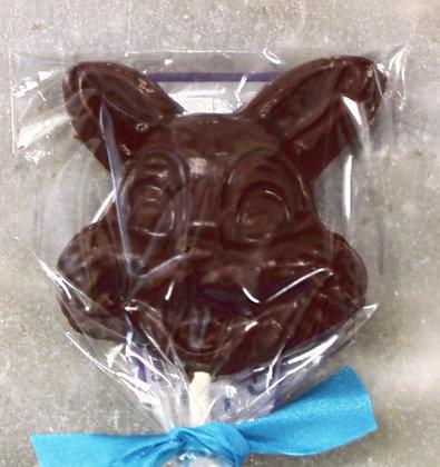 Bunny Chocolate Sucker