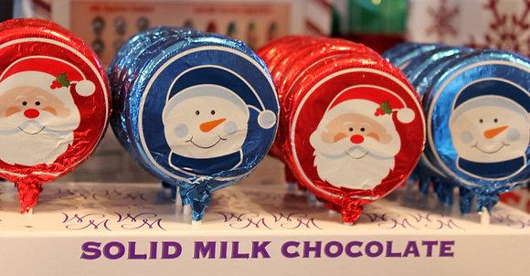 Foil Milk Chocolate Sucker