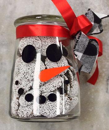 Non Pareils Dark Chocolate in a Snowman Jar