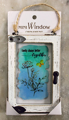 Family Always Better Together (Window Decoration)
