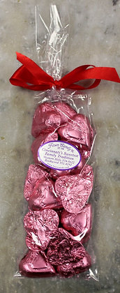 Pink Foil Hearts Milk Chocolate