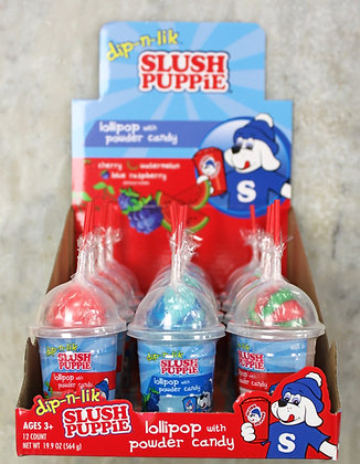 Slush Puppie ( lolipop with powder candy)