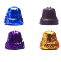 Dark Chocolate foil Bells