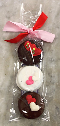 Valentine's Chocolate Covered Oreos