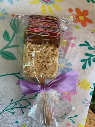 Chocolate Dipped Rice Krispie Treat