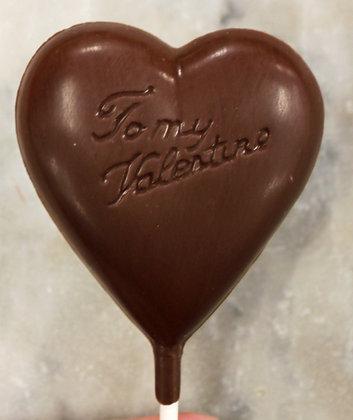 Chocolate Heart Sucker
