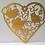 Thumbnail: Geboorte - Bruiloft hanger van karton hartje