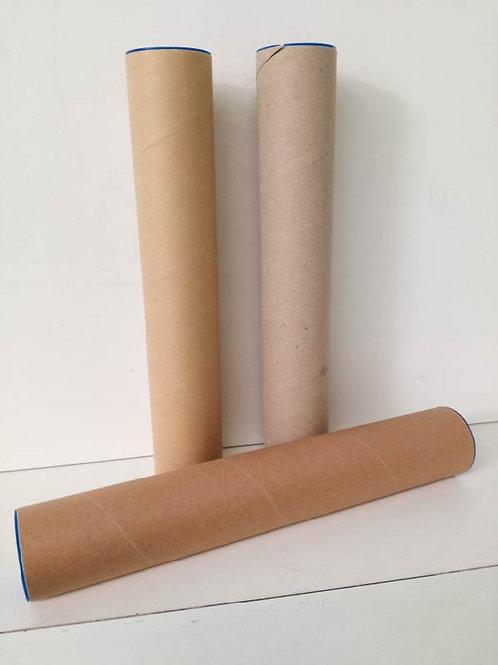 Verzendkoker - karton - 10 stuks