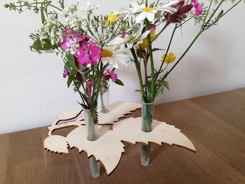 Bloemen houder hout bladeren - Seeyoulaser