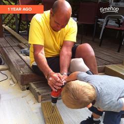 Vin fixing with Kaeden