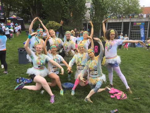 Dancers at the Color Run!