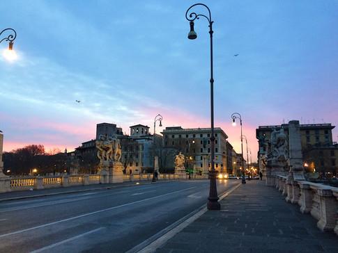 Rome, Italy at sunrise