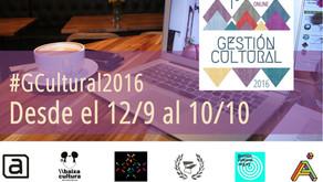 Del 12 de septiembre al 10 de octubre se llevara a cabo el primer congreso online de gestión cultura