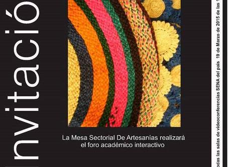 La Mesa Sectorial de Artesanía del SENA, celebra el día nacional del artesano en Colombia el próximo