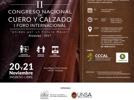 II Congreso Nacional y I Foro Internacional de Cuero y Calzado