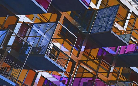 Los balcones apilados