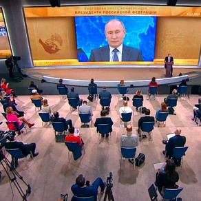 Grande conferência de imprensa de Vladimir Putin 2020. O principal.