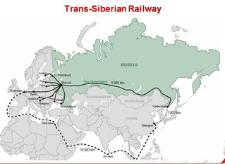 A ferrovia Transiberiana se torna a artéria comercial do mundo