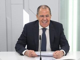 """Lavrov inaugura a sessão online """"A Rússia e o Mundo Pós-Covid"""""""