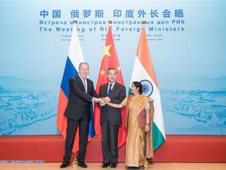 China, Rússia e Índia reforçam cooperação depois de encontro de chanceleres
