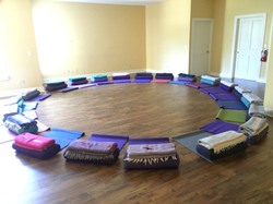 yoga room prop circle