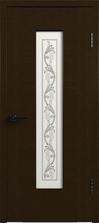 Рондо Венге Стекло белый сатинат с шолкографическим рисунком