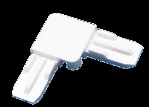 Угол соединительный для москитного профиля белый пластиковый