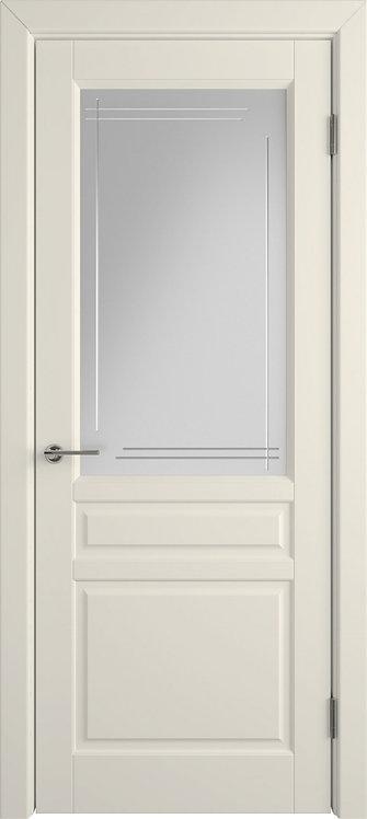 Стокгольм Айвори Стекло белый сатинат художественное с гравировкой