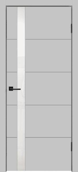 Scandi F Design Z1 Светло-серая эмаль Стекло лакобель белый