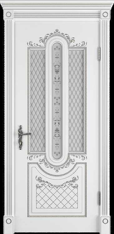 Александрия Поляр Патина серебро Стекло сатинат с УФ-печатью
