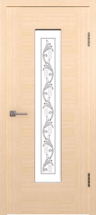 Рондо Беленый дуб Стекло белый сатинат с шолкографическим рисунком
