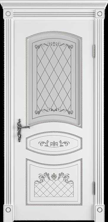 Адель Поляр Патина серебро Стекло сатинат с УФ-печатью