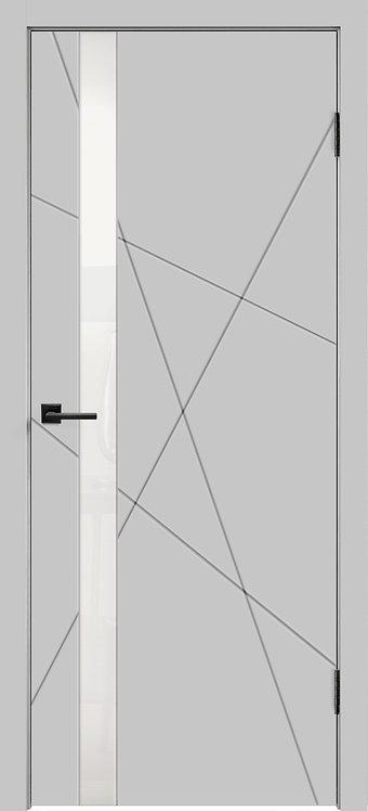 Scandi S Design Z1 Светло-серая эмаль Стекло лакобель белый